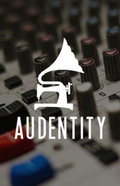 Logo van muziekstudie Audentity